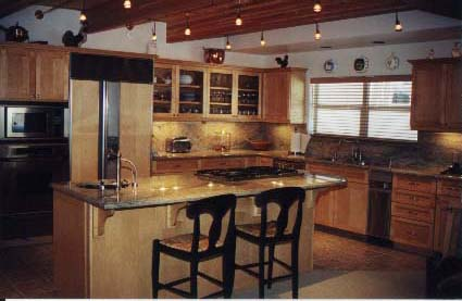 Custom home gallery howebuilt howe construction inc Kitchen design for village